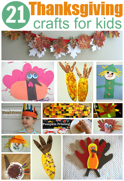 I also love No Time for Flash Card's 21 Easy Thanksgiving Crafts For Kids, what awesome ideas!