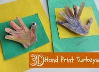 3D Hand Print Turkey