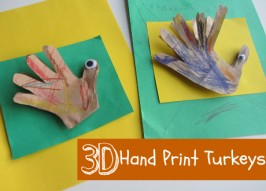 3D Hand Print Turkey Craft