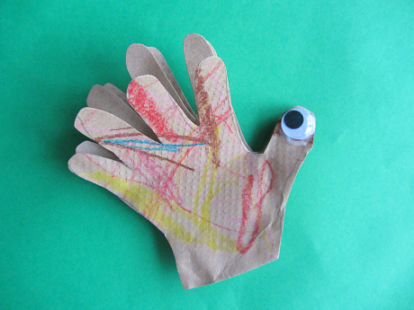 3d hand print turkey craft for toddlers