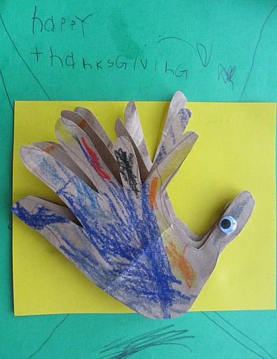 3d thanksgiving turkey craft