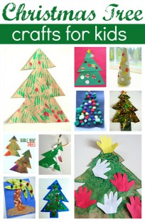 'christmas crafts for kids' from the web at 'https://www.notimeforflashcards.com/wp-content/uploads/2012/11/Easy-Christmas-Tree-Crafts-For-Kids--204x311.jpg'