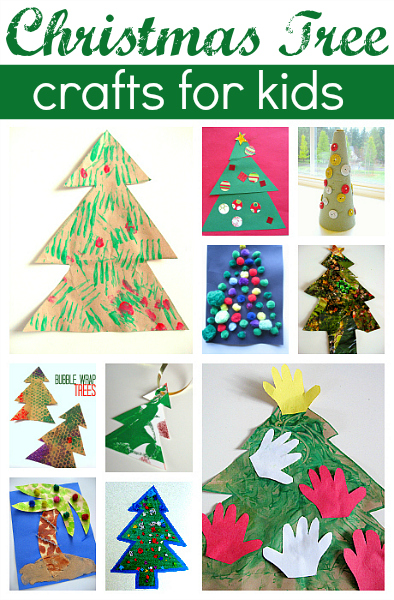 11 Easy Christmas Tree Crafts For Kids No Time For Flash Cards