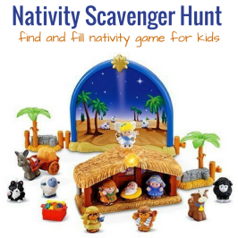 Find and Fill Nativity Scavenger Hunt For Preschoolers