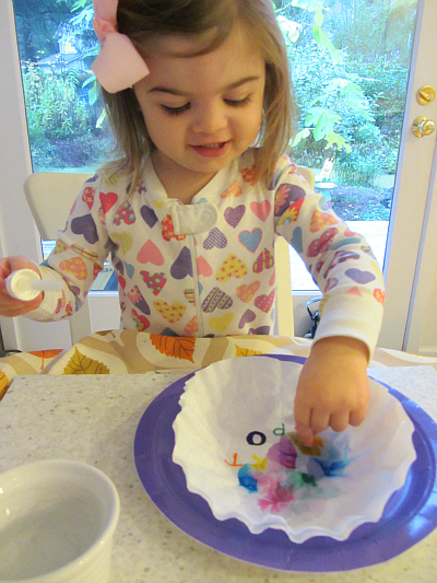 alphabet for starters tie dye letters activity