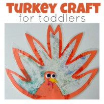 glitter sun catcher turkey craft for toddlers