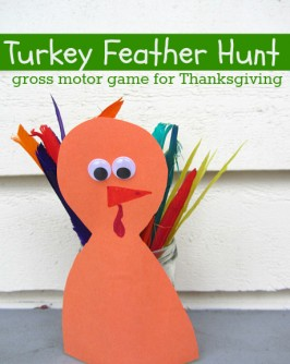 Turkey Feather Hunt { Gross Motor Game}