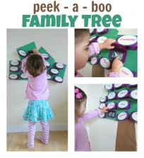 peek a boo family tree activity