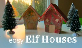 Easy Elf Houses {made from birdhouses}