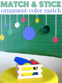 Ornament  Color Match Activity For Toddlers