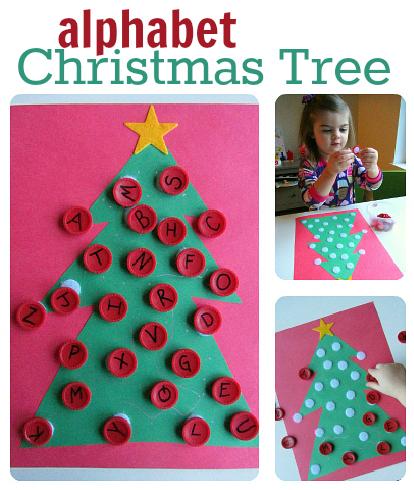Christmas Alphabet.Alphabet Activity Christmas Tree Alphabet