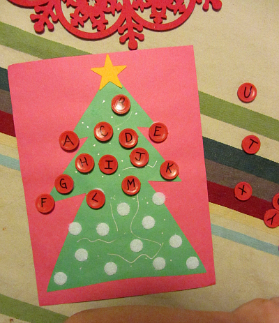 alphabet christmas tree craft for kids