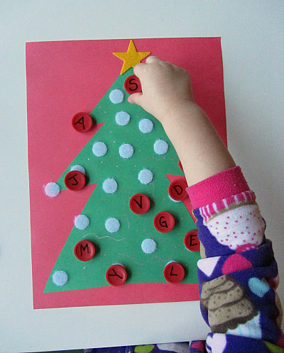 alphabet christmas tree letter activity for kids