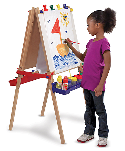 deluxe standing art easel from Melissa & Doug