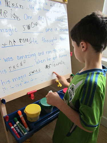 fill int he blanks stories and spelling activity