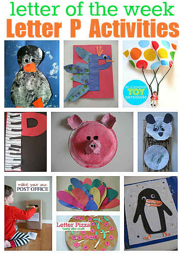 Letter of the week p theme for Letter p preschool crafts