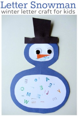 Winter Preschool Craft  – Letter Snowman