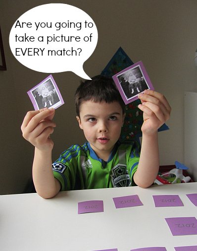 new years match game for kids and toddlers