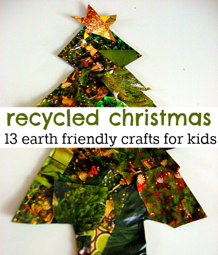 Recycled christmas crafts for kids Christmas tree ideas using recycled materials