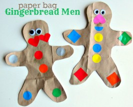 shape paper bag ginger man craft