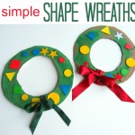 Shape Wreath { perfect for bedroom doors!}