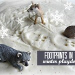 Footprints in the Snow {Playdough Play}