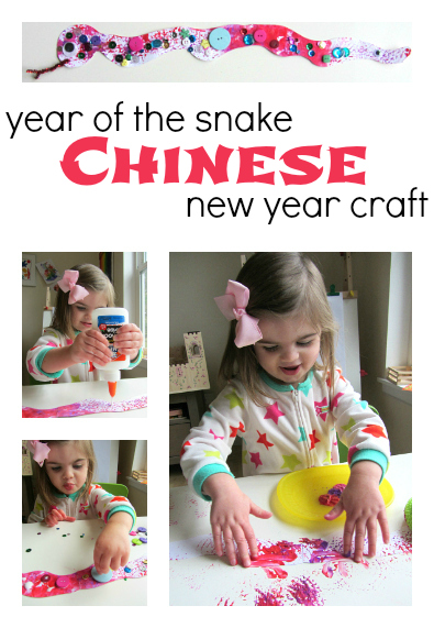 chinese new year craft for kids year of the snake