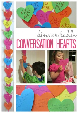 Dinner Conversation Hearts – Family Meal Activity