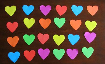 heart letter memory game for learning