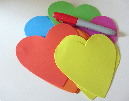 heart shaped letter memory game