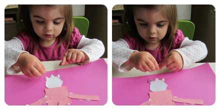 shape princess craft for kids and toddlers