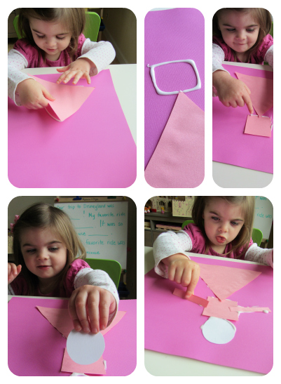 shape princess kids craft