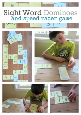Sight Word Dominoes & Speed Racer Game