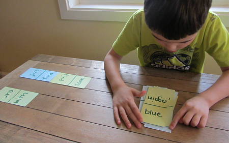 sight word race game for kids