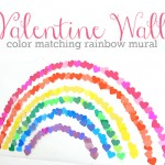 Valentine's Day Rainbow Wall