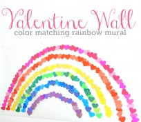 valentine heart mural