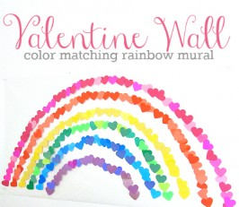 Valentine's Day Rainbow Wall