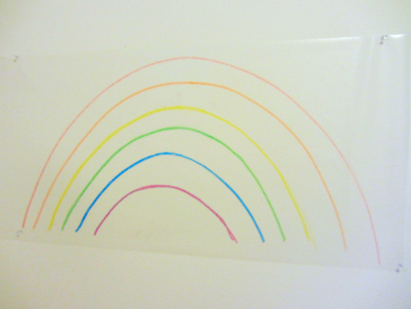 valentine rainbow mural