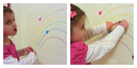 valentines' day color matching activity for toddlers