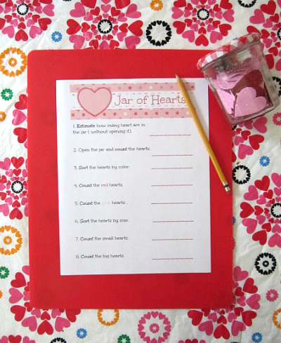 valentine's day math activity for kids