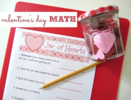 Jar Of Hearts – Valentine's Day Math Printable