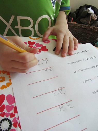 valentine's day math writing
