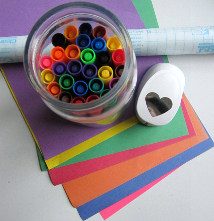 valentine's day rainbow craft