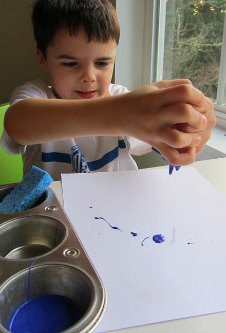 dribble painting art