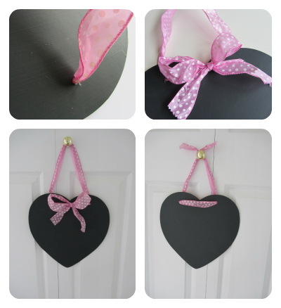 easy DIY heart chalk board