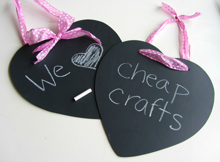 easy heart shaped blackboards