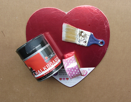 easy heart shaped chalk board valentine gift for kids