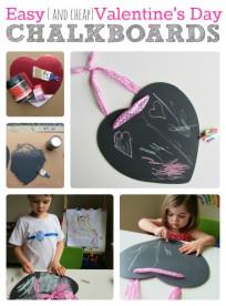 easy valentine's day chalkboards