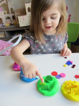 Rainbow Playdough Color Sorting