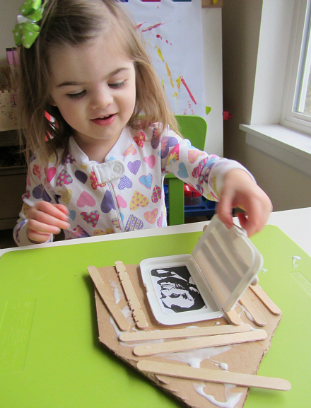 presidents day peek a book lincoln log cabin craft for kids